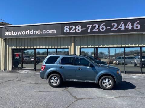 2011 Ford Escape for sale at AutoWorld of Lenoir in Lenoir NC