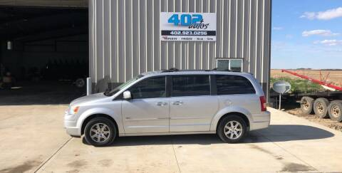 2008 Chrysler Town and Country for sale at 402 Autos in Lindsay NE