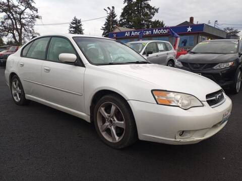 2006 Subaru Legacy for sale at All American Motors in Tacoma WA
