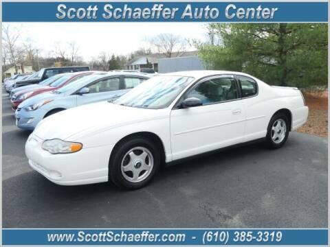 2004 Chevrolet Monte Carlo for sale at Scott Schaeffer Auto Center in Birdsboro PA