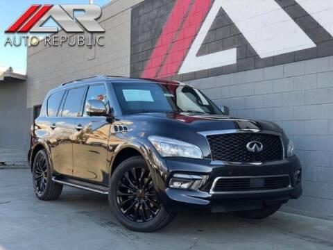 2015 Infiniti QX80 for sale at Auto Republic Fullerton in Fullerton CA