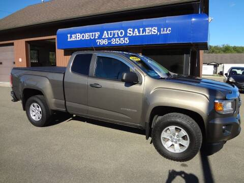 2016 GMC Canyon for sale at LeBoeuf Auto Sales in Waterford PA