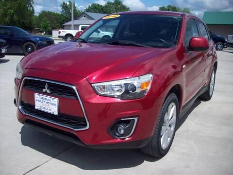 2014 Mitsubishi Outlander Sport for sale at Nemaha Valley Motors in Seneca KS