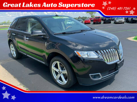 2013 Lincoln MKX for sale at Great Lakes Auto Superstore in Pontiac MI