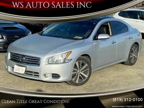 2012 Nissan Maxima for sale at WS AUTO SALES INC in El Cajon CA