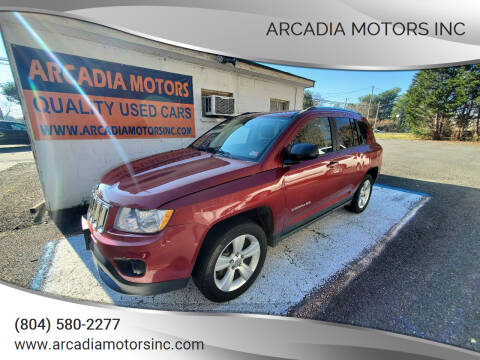 2013 Jeep Compass for sale at ARCADIA MOTORS INC in Heathsville VA