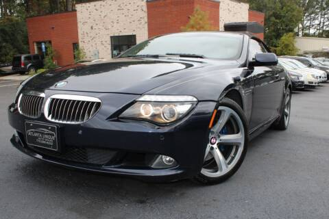 2008 BMW 6 Series for sale at Atlanta Unique Auto Sales in Norcross GA