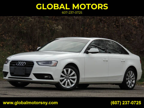 2013 Audi A4 for sale at GLOBAL MOTORS in Binghamton NY