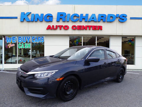2018 Honda Civic for sale at KING RICHARDS AUTO CENTER in East Providence RI