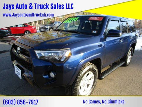 2014 Toyota 4Runner for sale at Jays Auto & Truck Sales LLC in Loudon NH