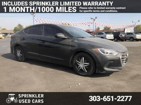 2017 Hyundai Elantra for sale at Sprinkler Used Cars in Longmont CO