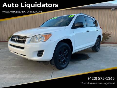 2012 Toyota RAV4 for sale at Auto Liquidators in Bluff City TN