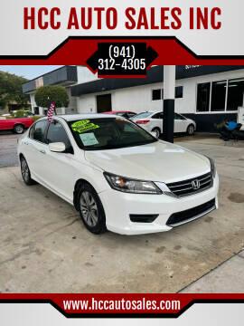 2014 Honda Accord for sale at HCC AUTO SALES INC in Sarasota FL