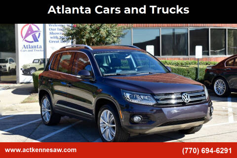 2016 Volkswagen Tiguan for sale at Atlanta Cars and Trucks in Kennesaw GA