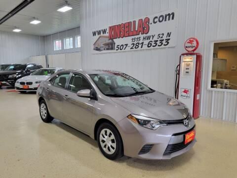 2015 Toyota Corolla for sale at Kinsellas Auto Sales in Rochester MN