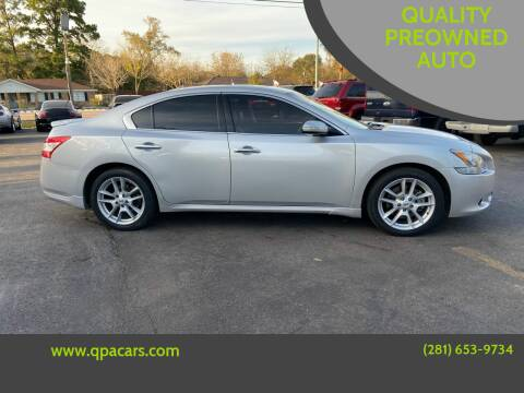 2011 Nissan Maxima for sale at QUALITY PREOWNED AUTO in Houston TX