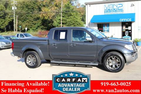 2014 Nissan Frontier for sale at Van 2 Auto Sales Inc in Siler City NC