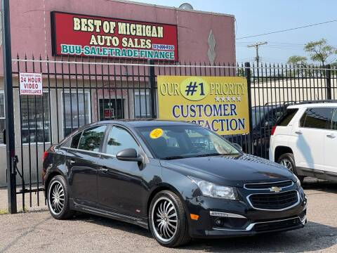 2015 Chevrolet Cruze for sale at Best of Michigan Auto Sales in Detroit MI