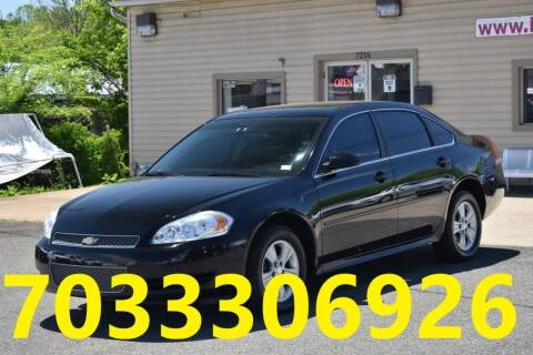 2012 Chevrolet Impala for sale at MANASSAS AUTO TRUCK in Manassas VA
