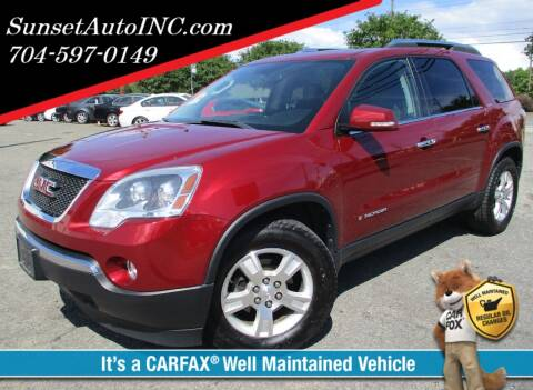 2008 GMC Acadia for sale at Sunset Auto in Charlotte NC