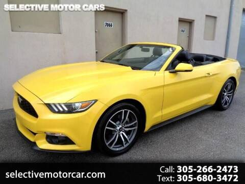 2017 Ford Mustang for sale at Selective Motor Cars in Miami FL