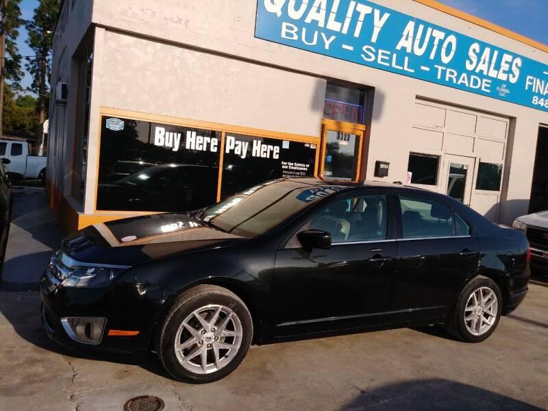 2012 Ford Fusion for sale at QUALITY AUTO SALES OF FLORIDA in New Port Richey FL