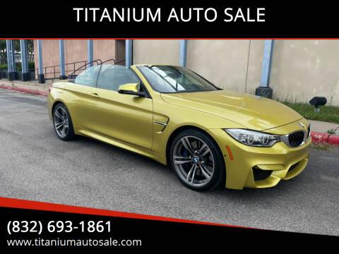 2016 BMW M4 for sale at TITANIUM AUTO SALE in Houston TX
