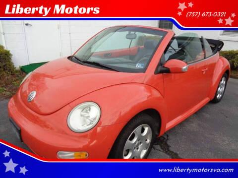 2003 Volkswagen New Beetle for sale at Liberty Motors in Chesapeake VA