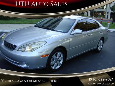 2005 Lexus ES 330 for sale at UTU Auto Sales in Sacramento CA