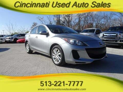 2012 Mazda MAZDA3 for sale at Cincinnati Used Auto Sales in Cincinnati OH