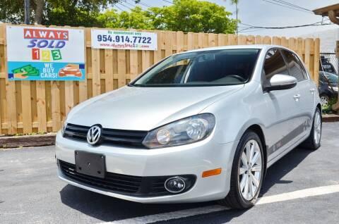 2013 Volkswagen Golf for sale at ALWAYSSOLD123 INC in Fort Lauderdale FL