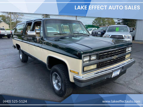 1989 Chevrolet Suburban for sale at Lake Effect Auto Sales in Chardon OH