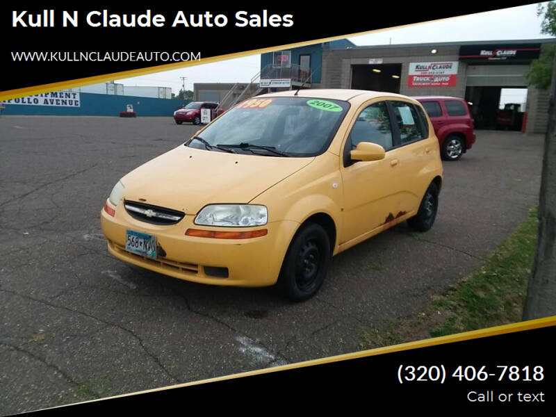 2007 Chevrolet Aveo for sale at Kull N Claude Auto Sales in Saint Cloud MN