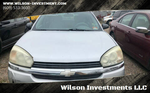 2005 Chevrolet Malibu Maxx for sale at Wilson Investments LLC in Ewing NJ