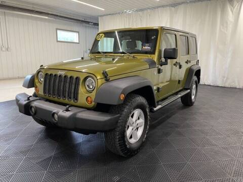 2008 Jeep Wrangler Unlimited for sale at Monster Motors in Michigan Center MI