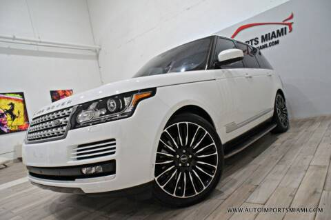 2016 Land Rover Range Rover for sale at AUTO IMPORTS MIAMI in Fort Lauderdale FL