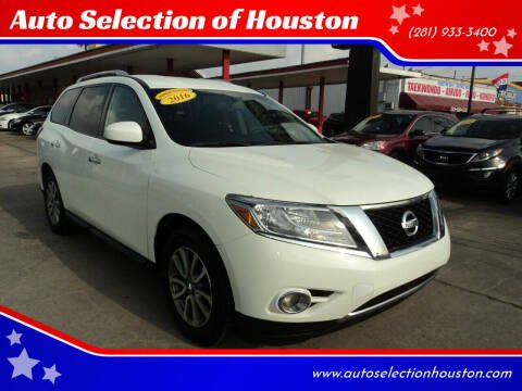 2016 Nissan Pathfinder for sale at Auto Selection of Houston in Houston TX
