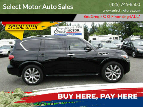 2012 Infiniti QX56 for sale at Select Motor Auto Sales in Lynnwood WA