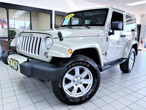 2018 Jeep Wrangler JK for sale at SAINT CHARLES MOTORCARS in Saint Charles IL