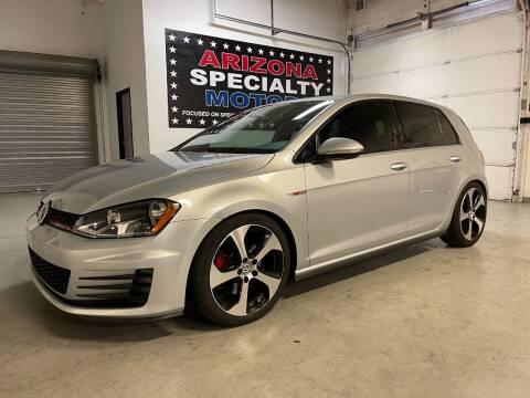 2017 Volkswagen Golf GTI for sale at Arizona Specialty Motors in Tempe AZ