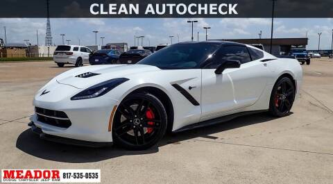 2015 Chevrolet Corvette for sale at Meador Dodge Chrysler Jeep RAM in Fort Worth TX