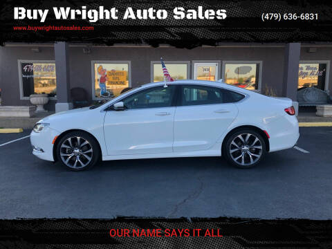 2015 Chrysler 200 for sale at Buy Wright Auto Sales in Rogers AR