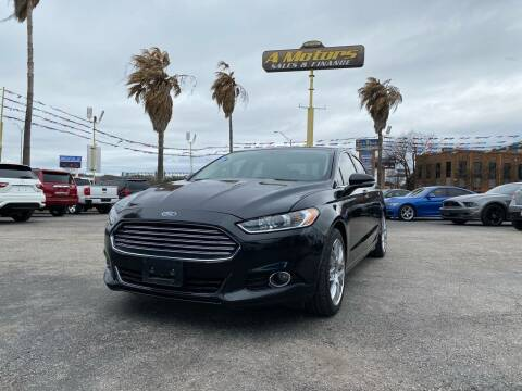 2015 Ford Fusion for sale at A MOTORS SALES AND FINANCE in San Antonio TX