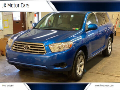 2008 Toyota Highlander for sale at JK Motor Cars in Pittsburgh PA