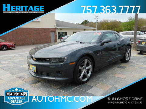 2014 Chevrolet Camaro for sale at Heritage Motor Company in Virginia Beach VA