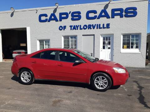 2006 Pontiac G6 for sale at Caps Cars Of Taylorville in Taylorville IL