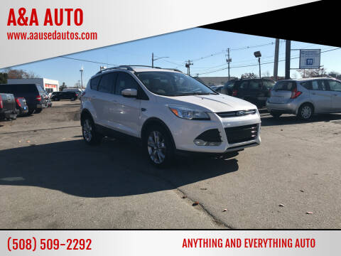2014 Ford Escape for sale at A&A AUTO in Fairhaven MA