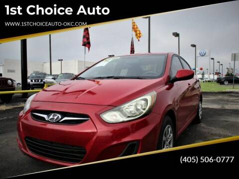 2012 Hyundai Accent for sale at 1st Choice Auto L.L.C in Oklahoma City OK