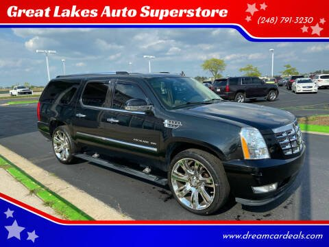 2010 Cadillac Escalade ESV for sale at Great Lakes Auto Superstore in Waterford Township MI