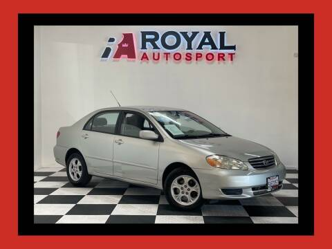 2003 Toyota Corolla for sale at Royal AutoSport in Sacramento CA
